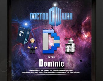 Lego Doctor Who Minifigure & Dalek personalised picture figure