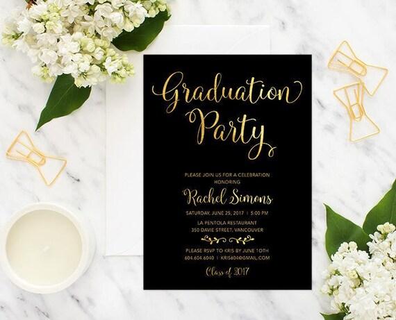 Graduierung Einladung druckbare Graduierung Ankündigung