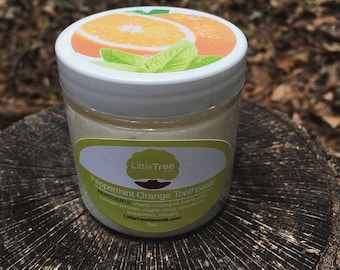 Peppermint Orange Toothpaste- Fluoride Free. Organic. All Natural. Homemade. Vegan.