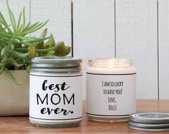 Best Mom Ever Soy Candle Gift | Mother's Day Gift | Gift for Mom | Soy Candle Gift | Birthday Gift for Mom | Mom Gift | Personalized Gift