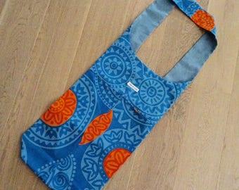 Exercise Mat Bag - Blue and Orange
