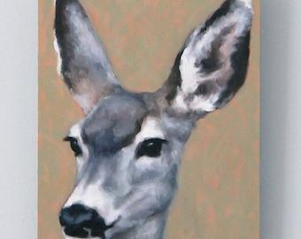 Deer Painting Original Art Oil Painting Rustic Decor Wall Art by Sarah Becktel