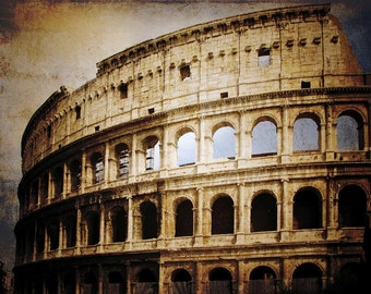 Roman Coliseum Wall Photographic Art Print, Wall Art for Home decor, 12 Sizes Available from Prints to Mounted Canvas