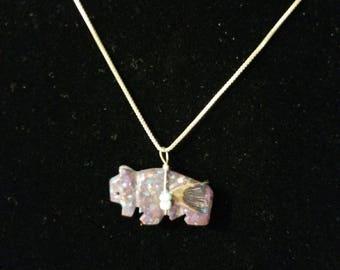 Purple Stone Southwestern Buffalo Necklace