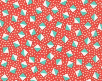 London Calling Lawn 6 - Cubes Coral - 1/2 yard