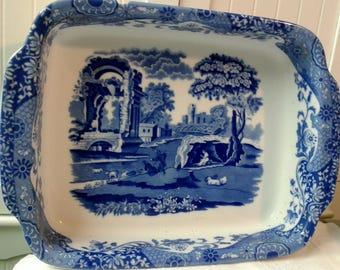 Spode Blueware Large Baking Dish - 'Italian' Design