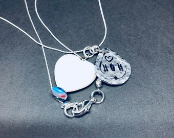 """Hand Stamped, """"Mom,"""" Necklace"""