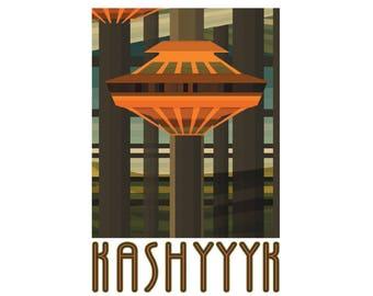 """Kashyyyk 13"""" x 19"""" Travel Poster"""