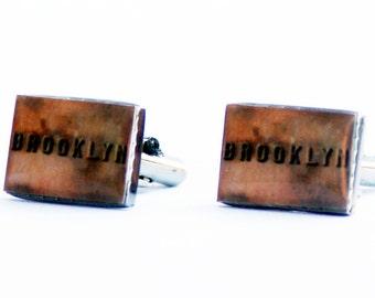 BROOKLYN CUFF LINKS- Brooklyn Bridge- gifts for him- men's accessories