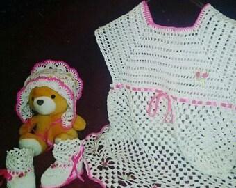 dress crochet handmade
