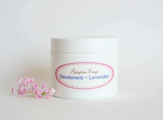 Creamy Lavender Deodorant | 2oz Jar | All Natural | Aluminum and Paraben Free | One Jar Lasts Up to 6 Months!