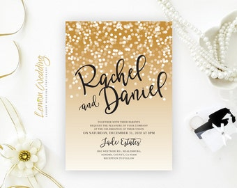 Tropical beach wedding invitations Palm tree wedding
