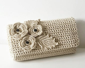 Crochet Tote Bag in 48 colors, soft crochet purse, woman bag, shopping bag, summer bag, beach bag, handbag, crochet shoulder bag