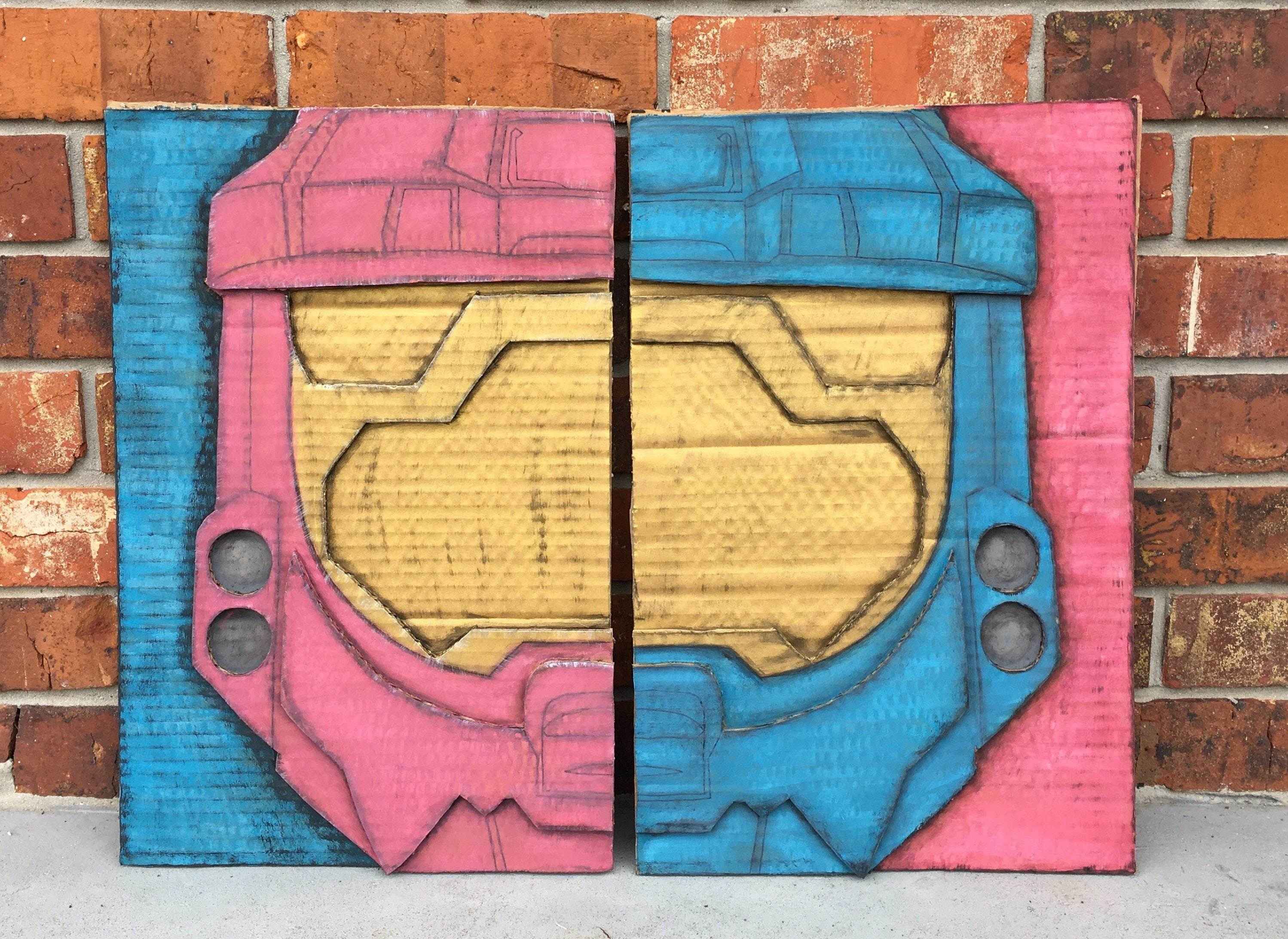 Red vs Blue Wall Art set of 2