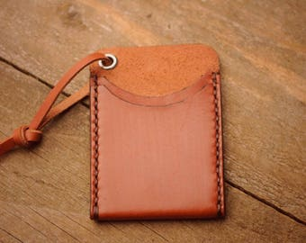 EDC wallet / front pocket leather wallet / everyday carry minimal pouch / Bushcraft / great stocking stuffer gift idea for him