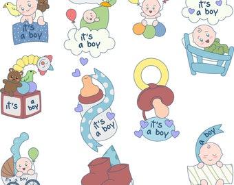 Babyshower clipart,babyshower clip artBoy baby shower clipart,baby shower clipart,commercial use,digital clip art,Instant download