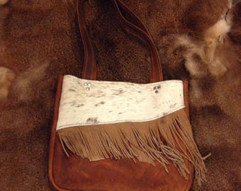 Oil Tanned Leather Fringe Purse