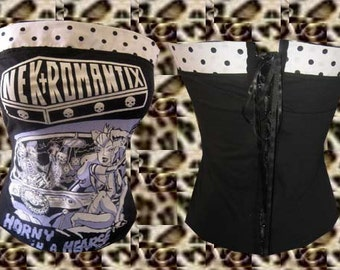 Nekromantix Psychobilly/ Rockabella Tube Top Sz. S, M, L, XL