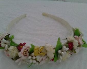 First Communion headband, bridesmaid Tiara, guest headband, hair Party, party 15 years, flower headband,
