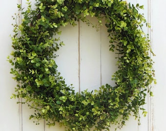 Spring Wreath, Door Wreath, Summer Wreath, Boxwood Wreath, Wreaths Spring, Spring Door Wreath, Artificial Wreath, Front Door,Outdoor Wreath
