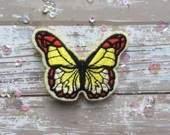 Yellow and Red Handmade Butterfly Brooch/Pin