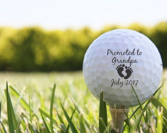 SHIPS FAST, Personalized Golf Balls, Pregnancy Reveal to Grandparents, Birth Announcement Golf Balls, Custom Golf Balls from Kids - S09