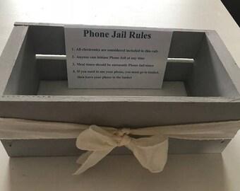 Phone Jail Wooden Box