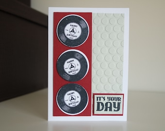 Happy Birthday music themed card
