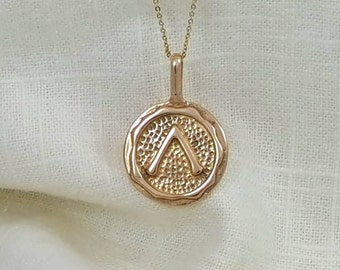 Hand Crafted Solid Ancient Bronze Fire Element Necklace Pendant