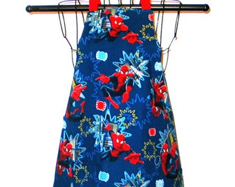 Childs Apron Kids Ages 3 to 8 Spidey Reversible Adjustable