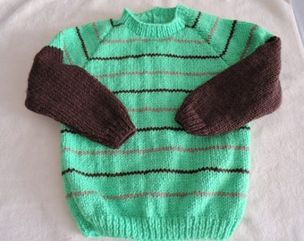 Baby/Toddler Jumper Sweater Unique Hand Knitted 20-22 Inch 12-18 Months
