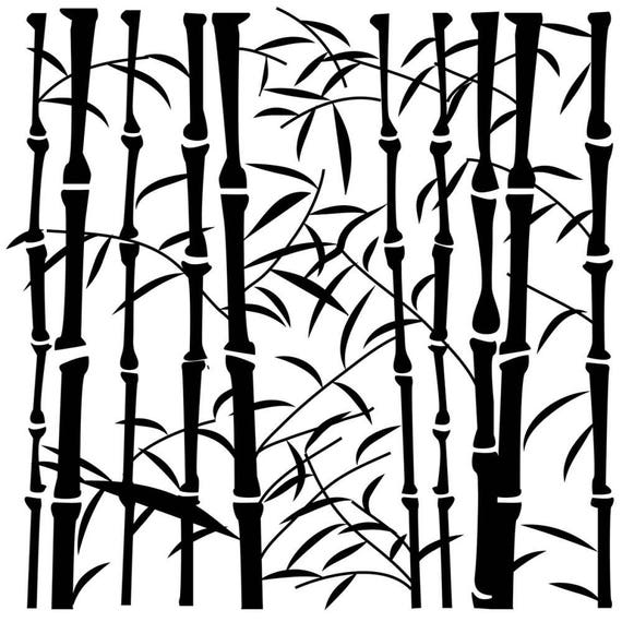 """Bamboo 6 x 6"""" Stencil /  template design perfect for mixed media, scrapbooking, journaling and so much more"""