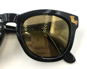 OOAK- Bat Eyes Sunglasses With mini brass bats