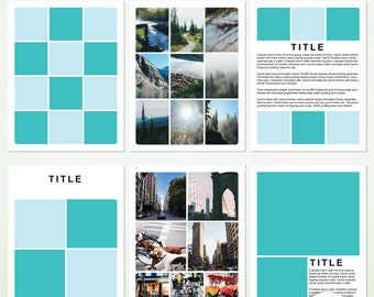 8.5 x 11 PSD Photographer & Scrapbook Templates - Photoshop and Photoshop Elements - For Personal and Commercial  G5038