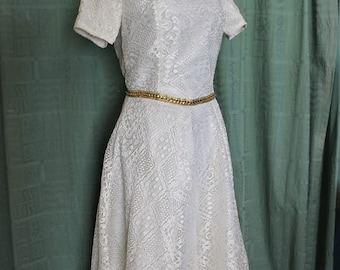 Handmade Recycled Petite Medieval Style Wedding Dress