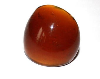 ring style Brown caramel glass ring size (55) size 15
