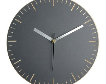 Wall clock - hand painted plywood with engraved dashes.