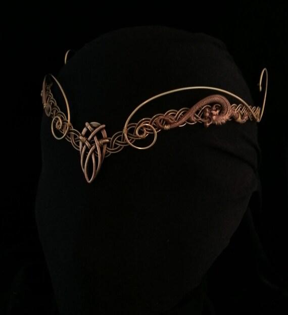 Exceptionnel La Couronne elfique médiéval Viking Pagan tiare diadème casque ZP64