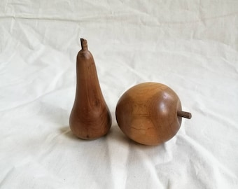 Vintage Wooden Apple and Pear