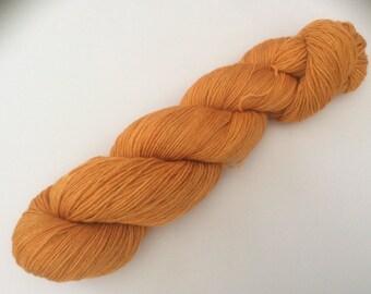 Pumpkin Spice - hand dyed yarn 3.5 oz 437 yds