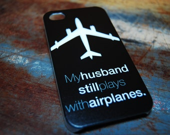 Pilot Wife Case For Iphone 6 (4.7) 4.7 5s 5 4s 4 My Husband Still Plays With Airplanes Funny Humor Pilots Plane Mechanic Back Cover c99