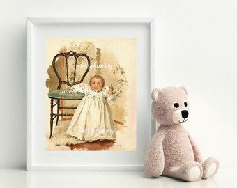 Nursery Art Print, Baby's Room Art, Nursery Decor, Baby Shower Gift, Welcome Baby Gift #459