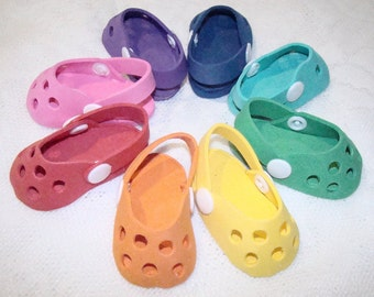"Crocs for American Girl Dolls, Madame Alexander, Our Generation, Goetz & Most other 18"" Dolls, Birthday Party Favors, Shoes, Accessories!"