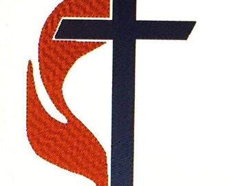 cross and flame etsy rh etsy com Um Cross and Flame free methodist cross and flame clipart