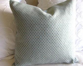 Chenille decorative Pillow Cover 18x18 20x20 22x22 24x24 26x26 peacock blue