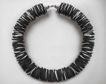 Black rubber Necklace