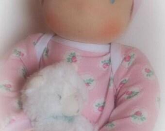 waldorf doll waldorfdoll babydoll baby pop zonnekind pop 42 cm