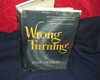 "Vintage Hardcover Novel ""Wrong Turning"" by Joan Charles"