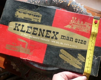 Vintage Man Size Kleenex from the late 1960s