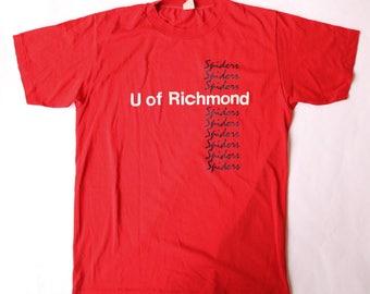 1980s University of Richmond Spiders T-Shirt | Size M/L
